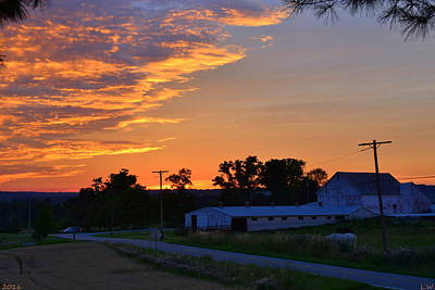 Photograph - Sunrise Over The Farm by Lisa Wooten