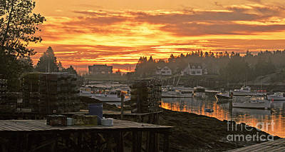Photograph - Sunrise Over The Harbor by Christopher Mace