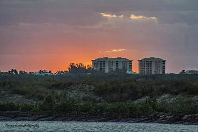 Photograph - Sunrise Over The Intracoastal by Nance Larson