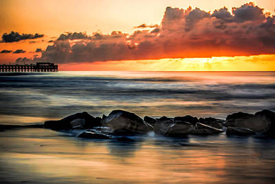 Photograph - Sunrise Over The Jetty by Terry Shoemaker