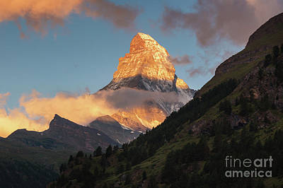 Photograph - Sunrise Over The Matterhorn In Zermatt Switzerland by Alissa Beth Photography
