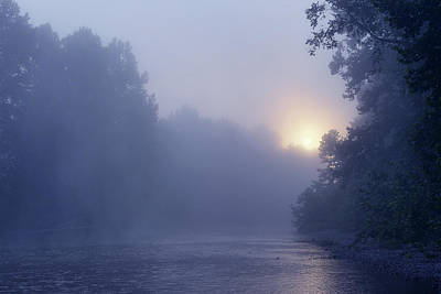Photograph - Sunrise Over The Meramec River by Robert Charity