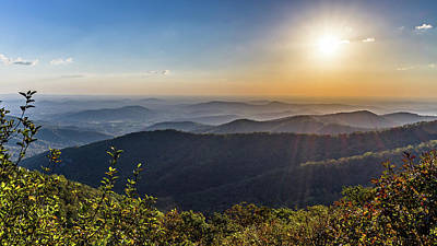 Art Print featuring the photograph Sunrise Over The Misty Mountains by Lori Coleman