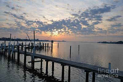 Photograph - Sunrise Over The Old Pier by Rose  Hill