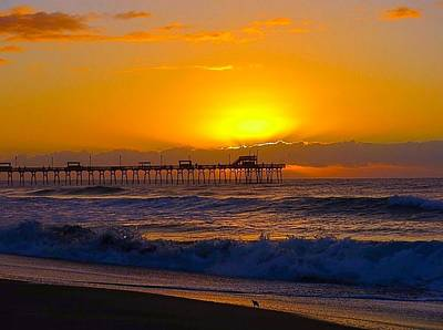 Photograph - Sunrise Over The Pier by Betty Buller Whitehead