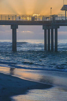 Photograph - Sunrise Over The Pier by John McGraw
