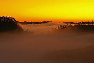 Sunrise Over The Red River Gorge. Art Print