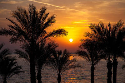 Sinai Photograph - Sunrise Over The Red Sea by Jane Rix