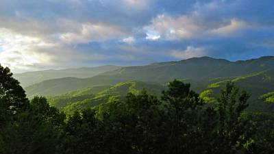 Photograph - Sunrise Over The Smokies by Rita Mueller