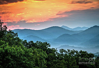 Photograph - Sunrise Over The Smoky's by Douglas Stucky