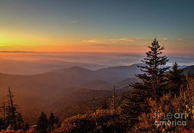 Photograph - Sunrise Over The Smoky's V by Douglas Stucky