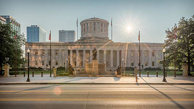 Photograph - Sunrise Over The Statehouse by Keith Allen