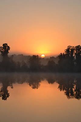 Photograph - Sunrise Over The Swamp by rd Erickson