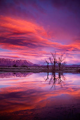 Owens Valley Photograph - Sunrise Over The Tablelands by Dan Holmes