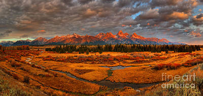 Photograph - Sunrise Over The Teton Blacktail Ponds by Adam Jewell