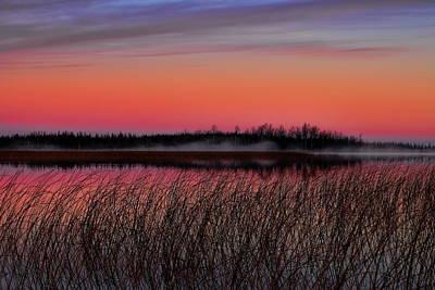 Landscapes Royalty-Free and Rights-Managed Images - Sunrise Over Thunder Lake by Dale Kauzlaric