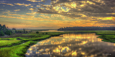 Photograph - Sunrise Over Turners Creek Savannah Tybee Island Art by Reid Callaway