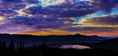 Sunrise Over Twin Lakes Art Print