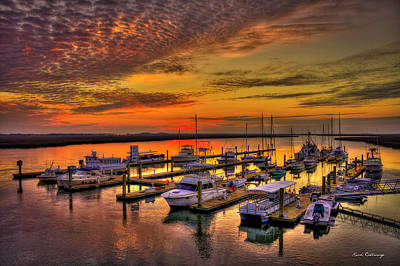 Photograph - Sunrise Over Tybee Bull River Marina Art by Reid Callaway