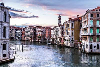Sunrise Over Venice Italy Art Print