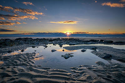 Coastal Maine Photograph - Sunrise Over Wells Beach by Rick Berk