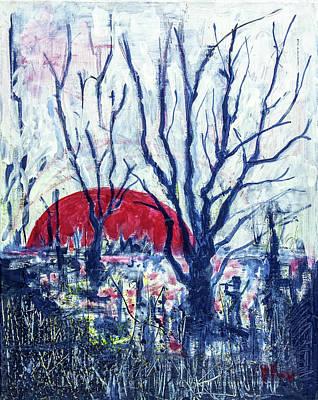 Painting - Sunrise Over Wetland by Maxim Komissarchik