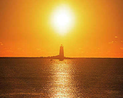 Photograph - Sunrise Over Whaleback Light Portsmouth Nh New Hampshire by Toby McGuire