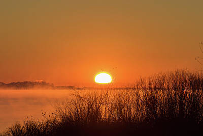 Photograph - Sunrise Over Winter's Waters by Tony Hake