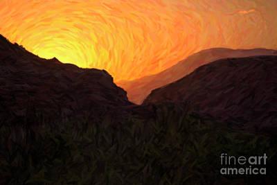 Digital Art - Sunrise Over Zion by Diane Diederich