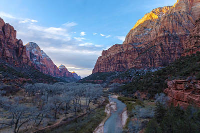 Photograph - Sunrise Over Zion Valley by Jonathan Nguyen