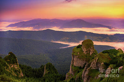Photograph - Sunrise Overlooking The Carpathians by Susanna Patras