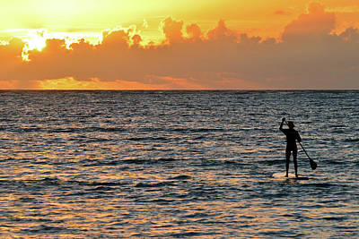 Photograph - Sunrise Paddle Board by James Kirkikis