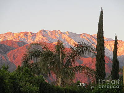 Photograph - Sunrise Palm Springs Mountains by Randall Weidner