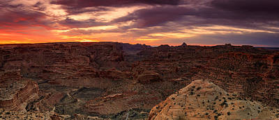 Photograph - Sunrise Panorama At The Wedge Overlook. by Johnny Adolphson