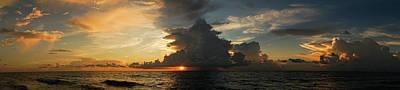 Photograph - Sunrise Panorama Delray Beach Florida by Lawrence S Richardson Jr