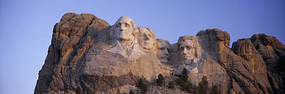 Sunrise Panoramic Image Of Presidents Art Print by Panoramic Images