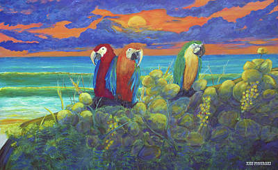 Tranquil Painting - Sunrise Parrot Beach by Ken Figurski
