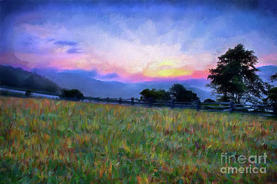 Painting - Sunrise Pasture In The Blue Ridge Ap by Dan Carmichael