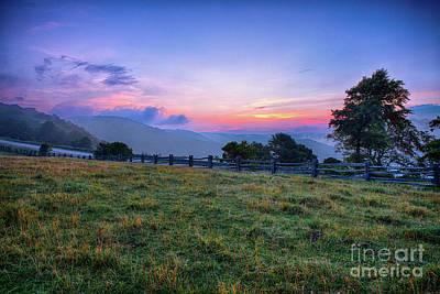 Photograph - Sunrise Pasture In The Blue Ridge by Dan Carmichael
