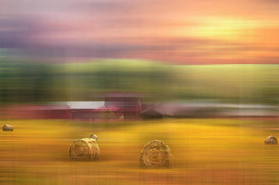 Photograph - Sunrise Pastures Dreamscape by Debra and Dave Vanderlaan