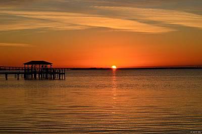 Photograph - 0206 Sunrise Peeking Over Sound by Jeff at JSJ Photography