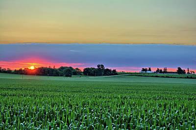 Photograph - Sunrise Peeking Through Two by Bonfire Photography