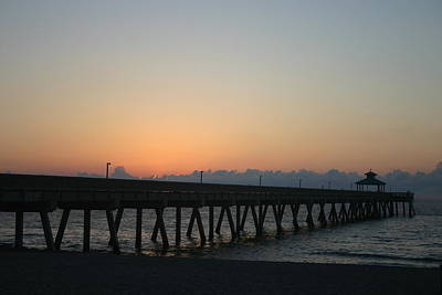Sunrise Pier Art Print by Dennis Curry