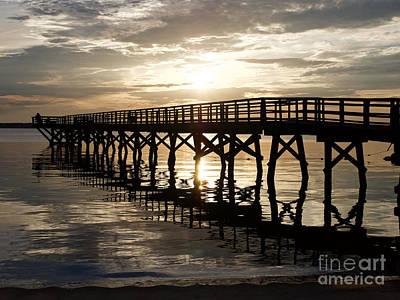 Sunrise Pier Art Print