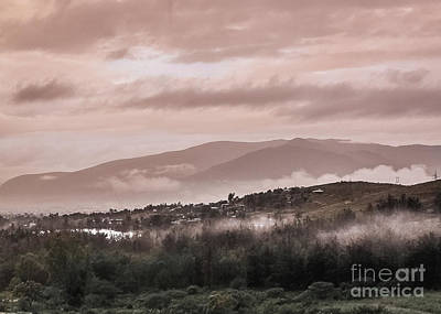 Photograph - Sunrise Pink Over Tlacolula Valley by IK Hadinger