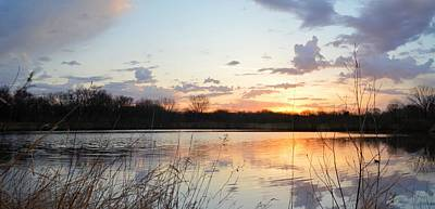 Photograph - Sunrise Pond by Bonfire Photography