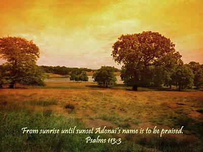Photograph - Sunrise Praise by Tikvah's Hope
