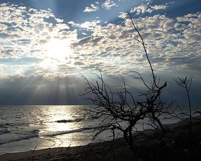 Sunrise Prayer On The Beach Art Print by Allan  Hughes