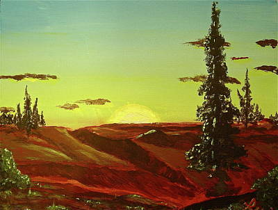 Over Hang Painting - Sunrise by R Allan Lister