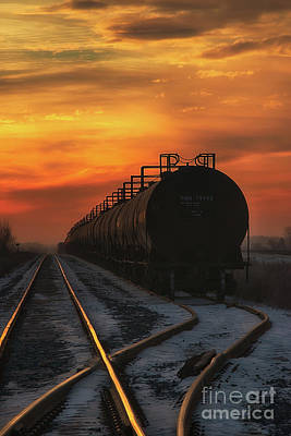 Sunrise Rail Art Print by Ian McGregor